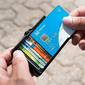 banconote porta banconote unisex rfid porta carte di credito comfort fermasoldi uomo portafoglio