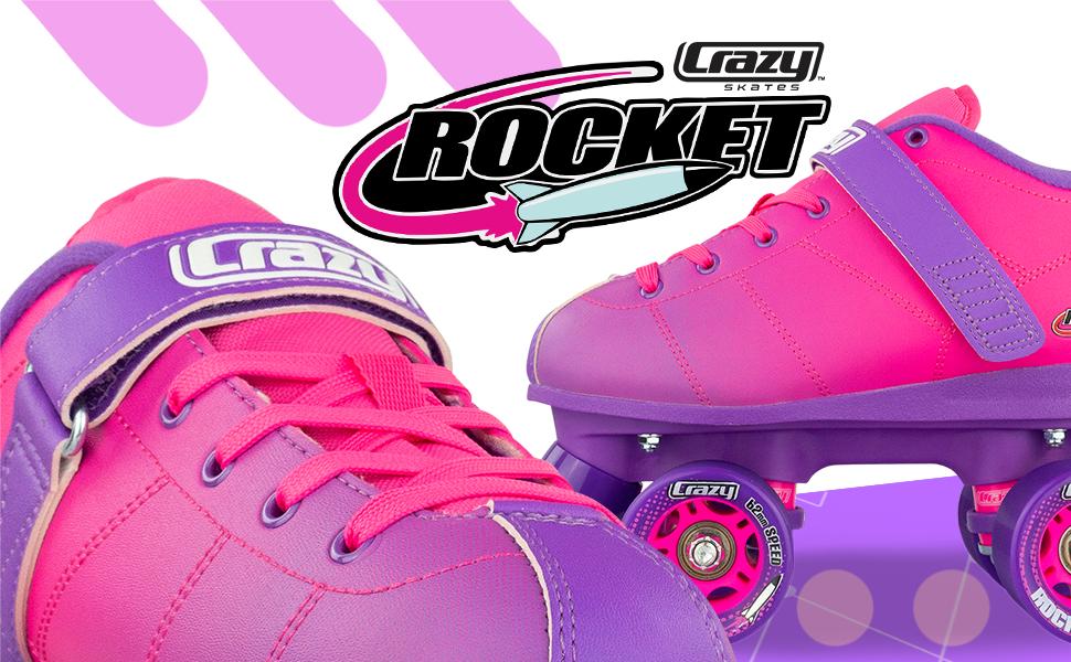 crazy skates rocket roller skates quad classic purple pink hombre rollerskates women girls teen girl