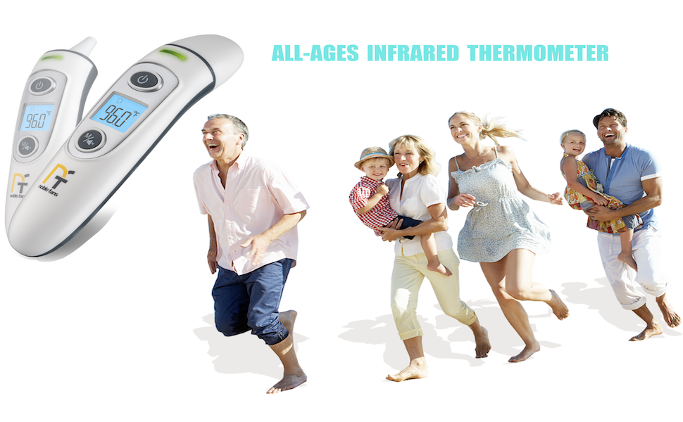 forehead and ear thermometer
