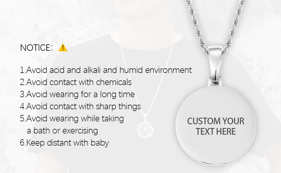 custom text necklace