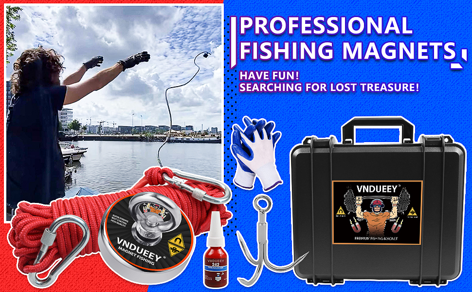 Fishing Magnet Kit with Rope