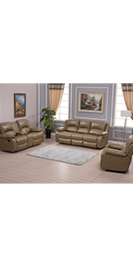 easy installation couch couchset sofa armchair PU leather sectional sofaset home furniture palomino