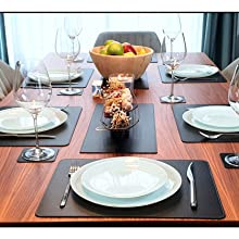 Black Leather Placemats