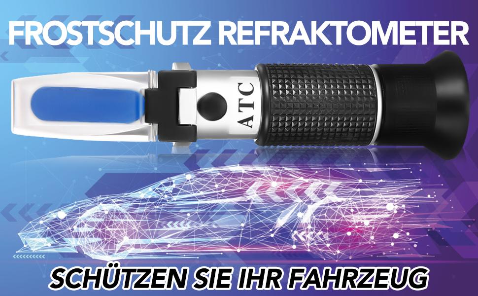 des Batteries/äurezustands und des Gefrierpunktsmessers Rvciken Frostschutz-Refraktometer-K/ühlmitteltester zur /Überpr/üfung des Gefrierpunkts der Ethylenglykolkonzentration
