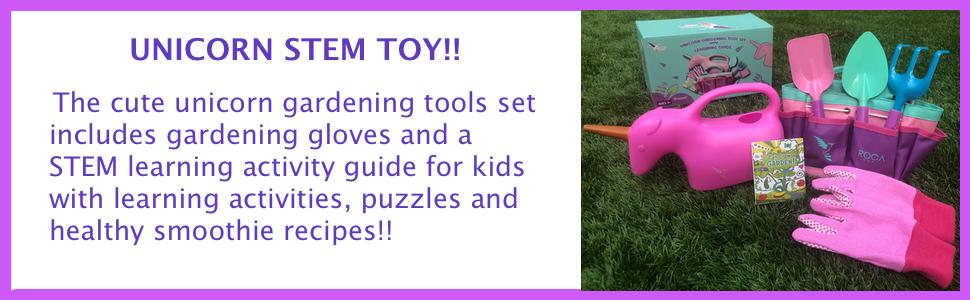 girls toy gardening tools unicorn birthday gifts stem