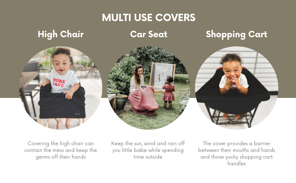 simka rose multi use covers for nursing shipping cart high chair car seat and more