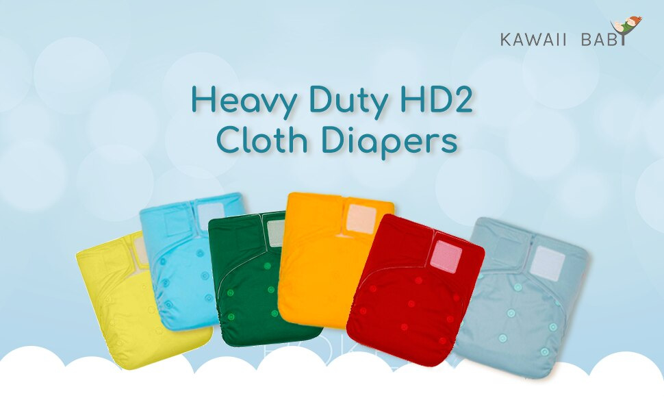 Vkospy Wiederverwendbare Waschbar Adjustable One Size Baby-Tasche Stoffwindeln Nappy