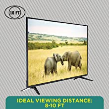 Ideal Viewing Distance: 8 – 10 Ft
