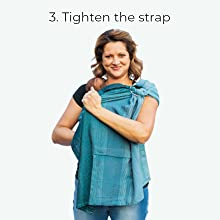 easy baby carrier ring sling newborn toddler instructions how to carry wrap baby