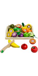 Juego de corte de frutas para niños.