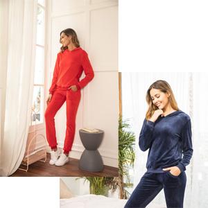 Sweatsuits Set Women 2 Piece Sweatshirt & Sweatpants Velour Hoodie Tracksuits Sportswear with Pocket