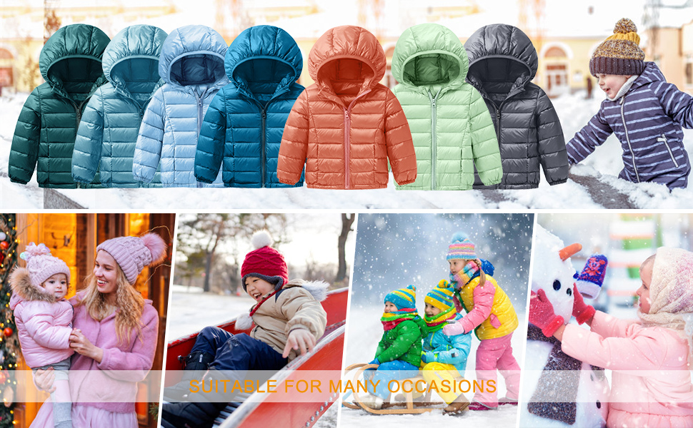 Packable Hooded Puffer Jackets