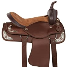 Details about  /Horse Western Barrel Show Pleasure LEATHER SADDLE Turquoise 5090