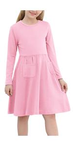 Girls Long Sleeve Casual  Dress