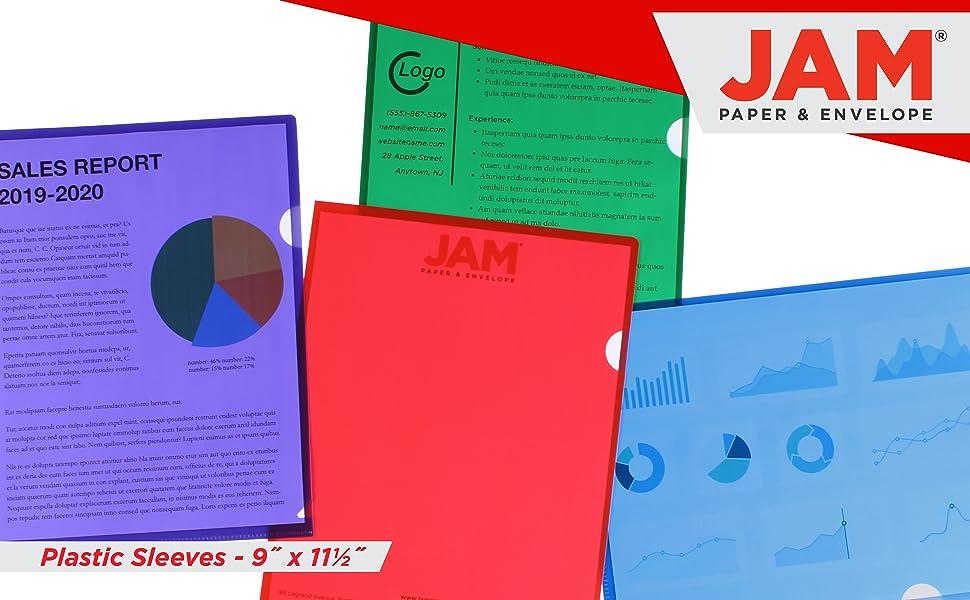 jam paper plastic sleeves