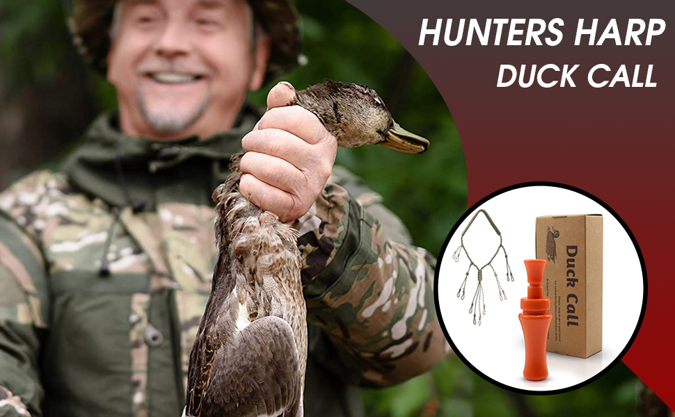 camo Made in The USA with Lanyard Wood Duck Call Large