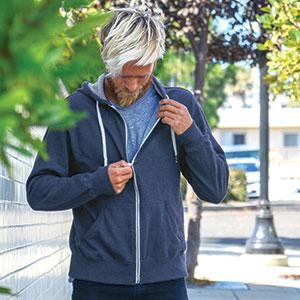 hoodie french terry cloth sweatshirt with zipper pockets hood