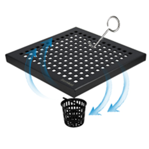 Square Shower Drain Brushed Nickel
