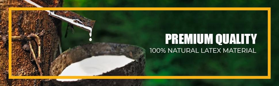 100% Natural Latex Rubber