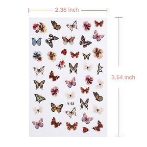 14Sheets Butterfly Nail Sticker