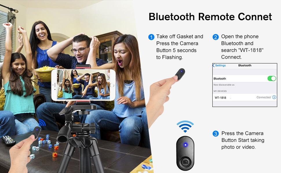 Tripod with Bluetooth Remote , Tripod Stand , Tripod Stand , Tripod Mount ,
