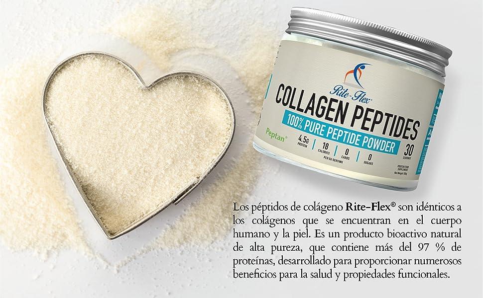 Rite-Flex, Péptidos de Colágeno con Peptan, Colágeno Hidrolizado en Polvo (5000 Mg)