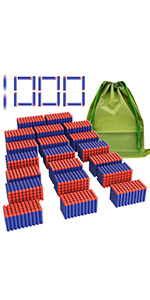 Coodoo Compatible Darts 1000 PCS Refill Pack Bullets for Nerf N-Strike Elite Series Blasters Toy Gun