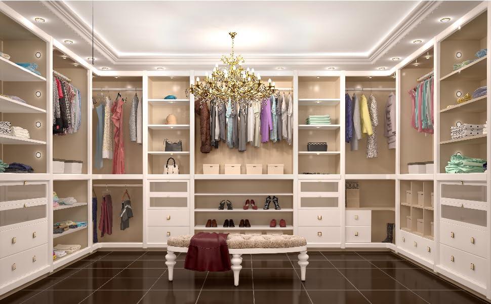 plastic acrylic clear closet divider separator organize organizer wooden shelf cabinet purse