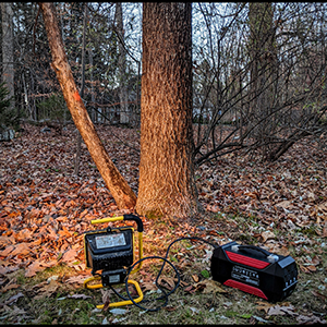 rechargeable battery-powered generator