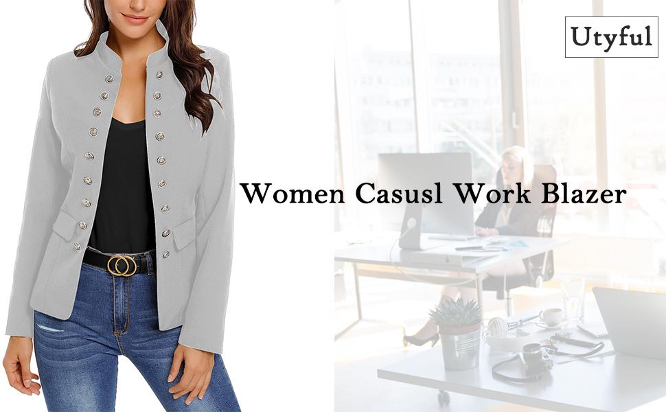 women casual work blazer