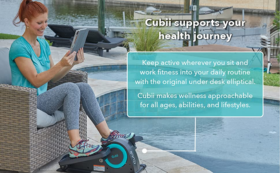Cubii supports your health journey! Keep active wherever you sit and work fitness into your routine.
