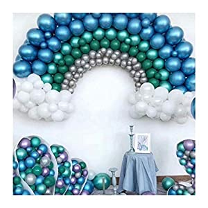 Amazon.com: PASOCON 60Pcs 12 Inch Muiltcolor Chrome Balloons Pearl Metal  Balloons Rich Color Metallic Latex Decoration for Wedding Birthday Baby  Shower Graduation Party: Toys & Games