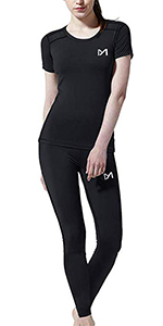 MEETEU 3Pcs Conjunto de Compresi/ón Hombre Camiseta Compresi/ón Deportiva Running Pantalones Compresi/ón Largos Leggings Hombre Fitness para Ciclismo Gym