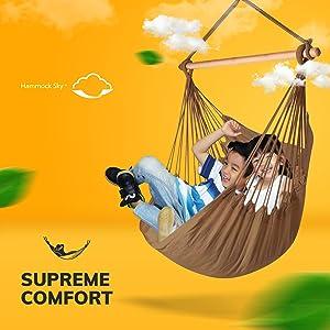 hammock hamaca XXL jumbe large extra big brown iced coffee hammcok sky chair
