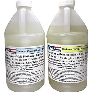 Kit-vert rapide Cure 2 Gal environ 7.57 L Haute Résistance silicone RTV Mold making composé