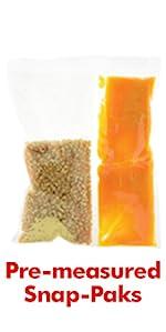 Snap-Paks Pre-measured Portion Packs of popcorn kernels, salt and coconut oil