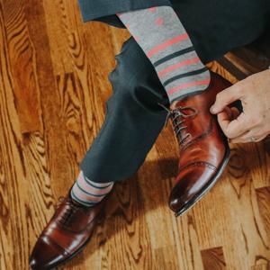 over the calf dress socks for men