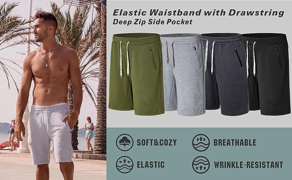 men shorts comfy color chart elastic