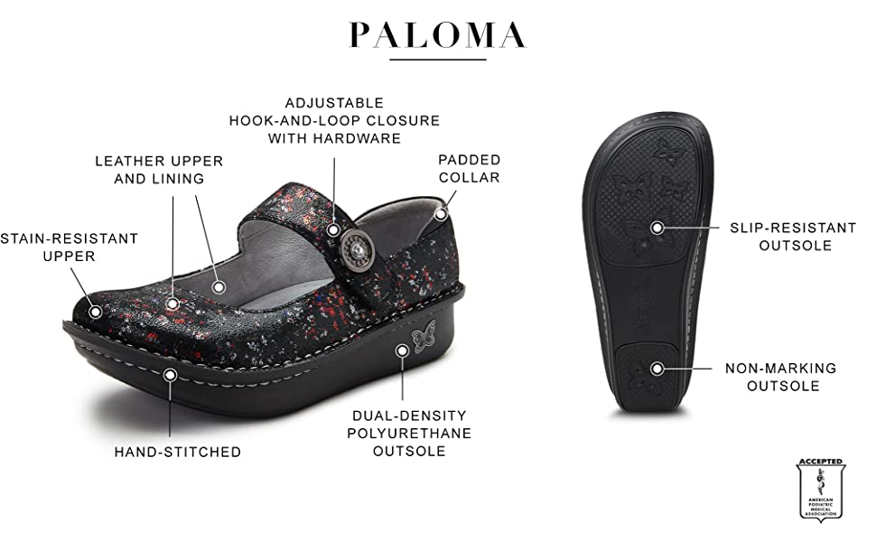 Alegria by PG Lite PALOMA cute and comfortable style APMA accepted shoes for women