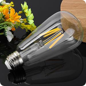 ST64 filament E26 LED Bulb Included