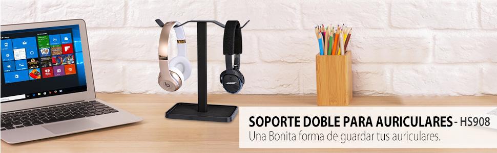 Neetto Soporte para Auriculares Dobles de Mesa, Soporte de ...