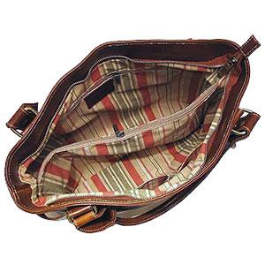 floto leather handbag inside