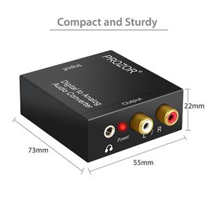 PROZOR DAC001, Convertidor Digital Analógico DAC Audio Óptico Coaxial(RCA) Toslink SPDIF de Audio Estéreo R / L-PS3: Amazon.es: Electrónica