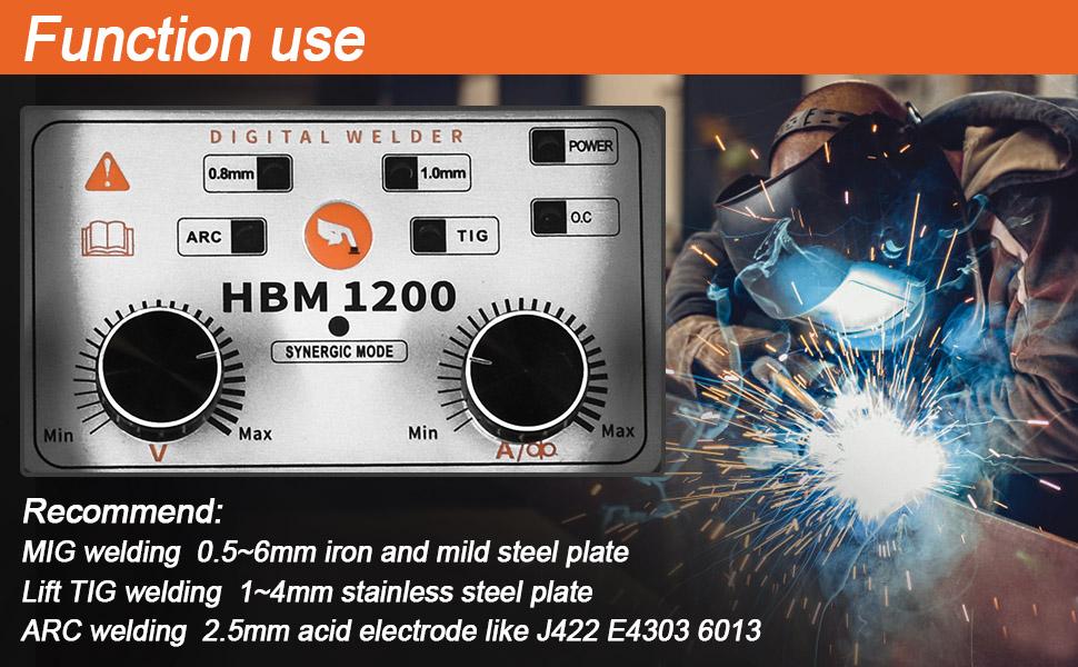 mig120 mig tig arc 3 in 1 gasless shield cup welding machine