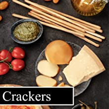 breadsticks and crackers