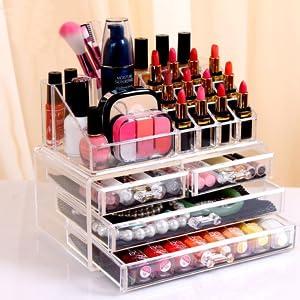 Jewellery Storage Box Acrylic Cosmetics organiser Lipsticks Makeup Organizer Holder Box