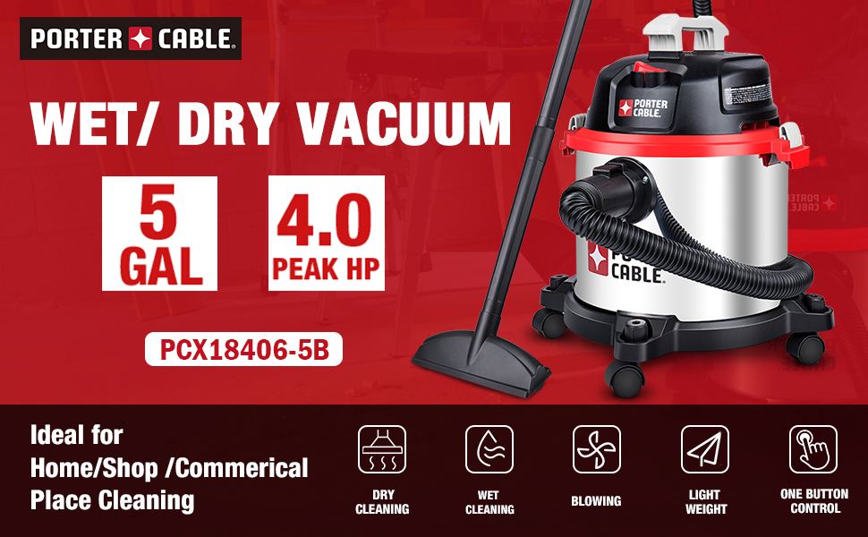 porter cable wet dry vacuum