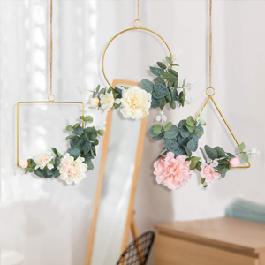 Floral hoop garland for wall hanging decoration