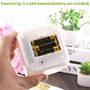 LED color changing digital alarm clock