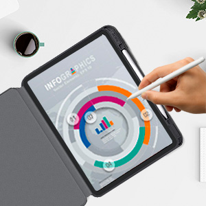 ipad pro 12.9 case with pencil holder